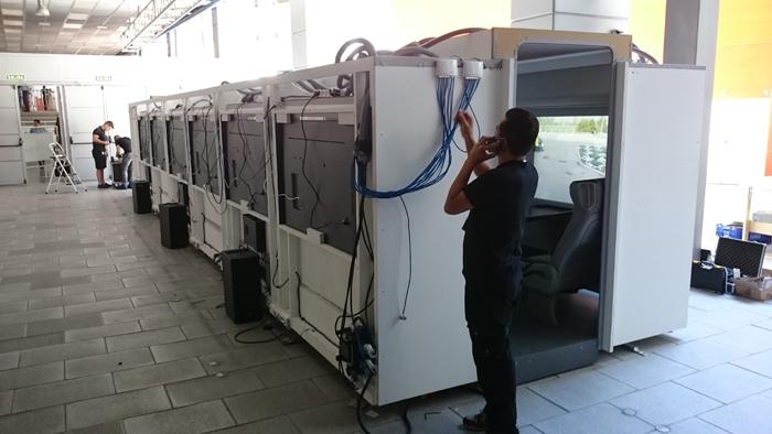 simulador para publico / autobus del real madrid
