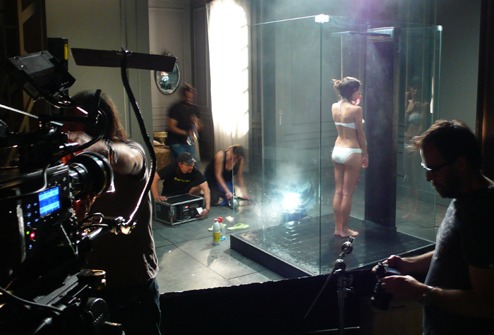 ducha calefactada / publicidad johnson&johnson