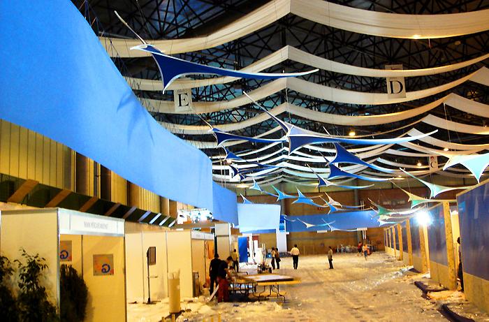 banderas de techo / recinto ferial sevilla