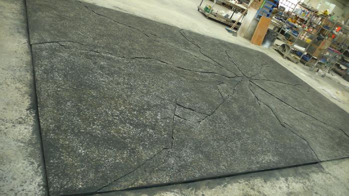 imitacion asfalto / publicidad mini morris