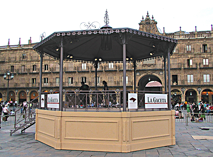 kiosko de la musica desmontable / ayuntamiento de salamanca