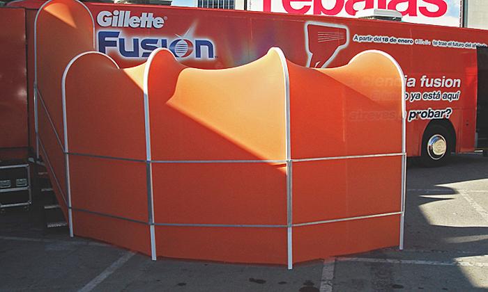 tunel acceso de publico / promocion gillette