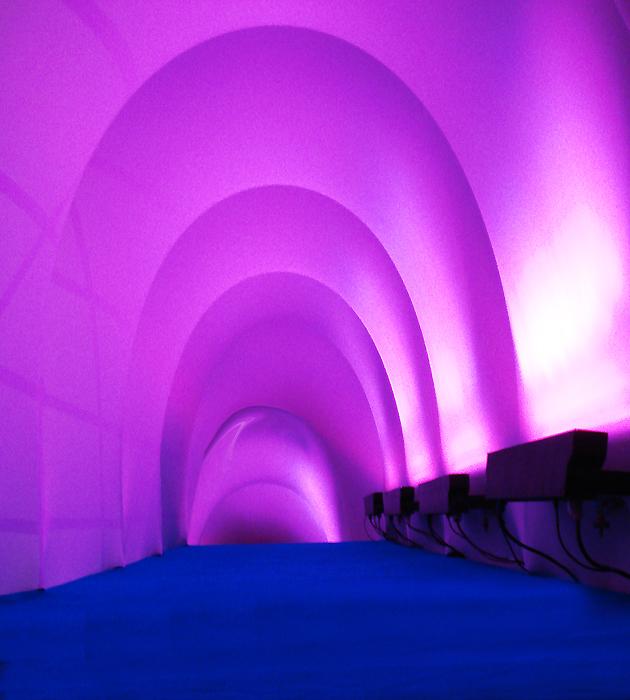 tunel de lycra / festival de benicassim