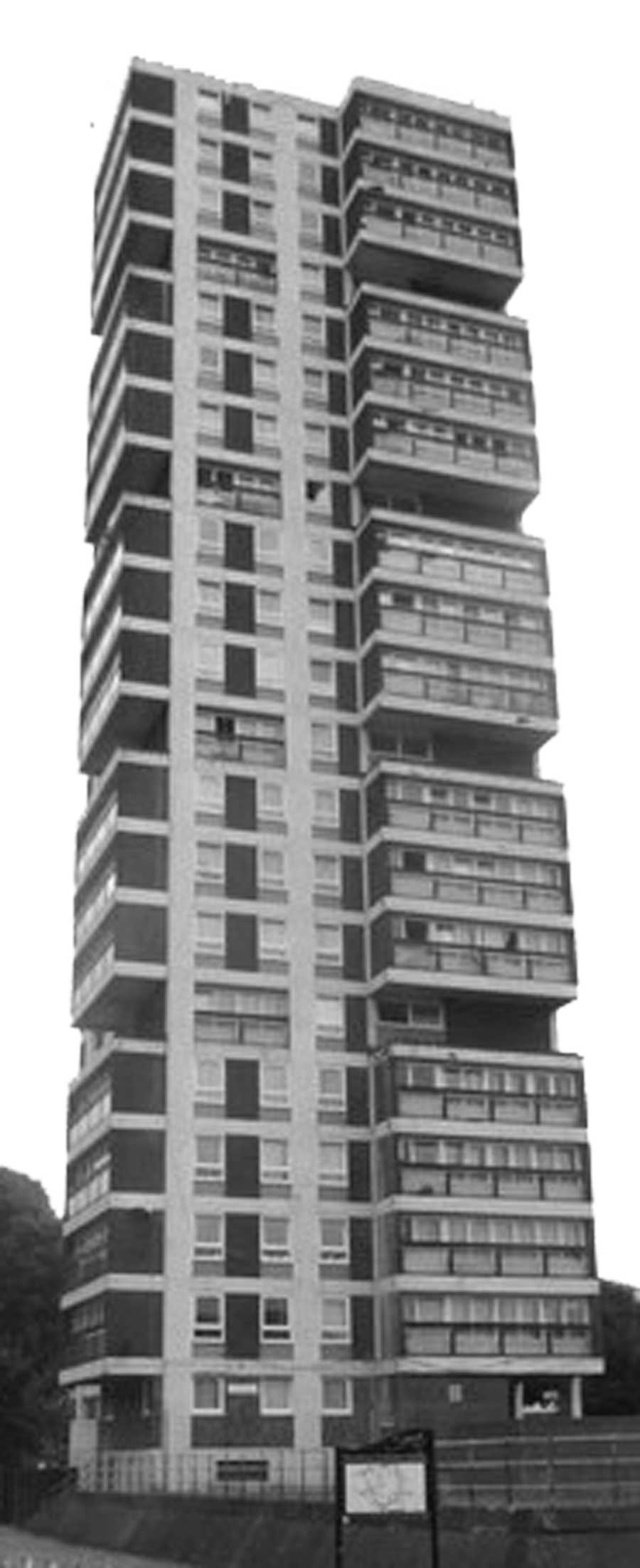 Aspects of British culture: photo of South London tower block