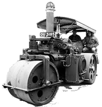 Photo of British culture: vintage British steamroller