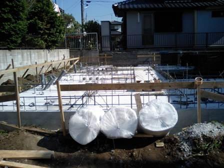 住宅基礎養生用にコンクリート養生マットDT-1を納品