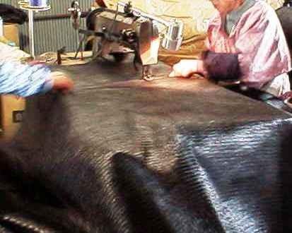 PPシート PPD#300縫製加工中