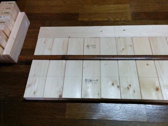 土のうステーション(折畳式土のうボックス)用木製スノコ 下準備