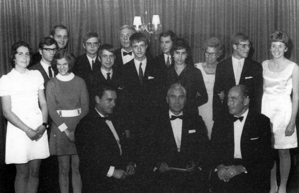 "Clubmeister in ""St. Peter"" - Siegerehrung 1966"