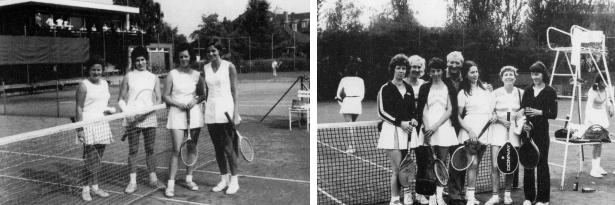 Damenmannschaft 1972     Damenmannschaft 1975