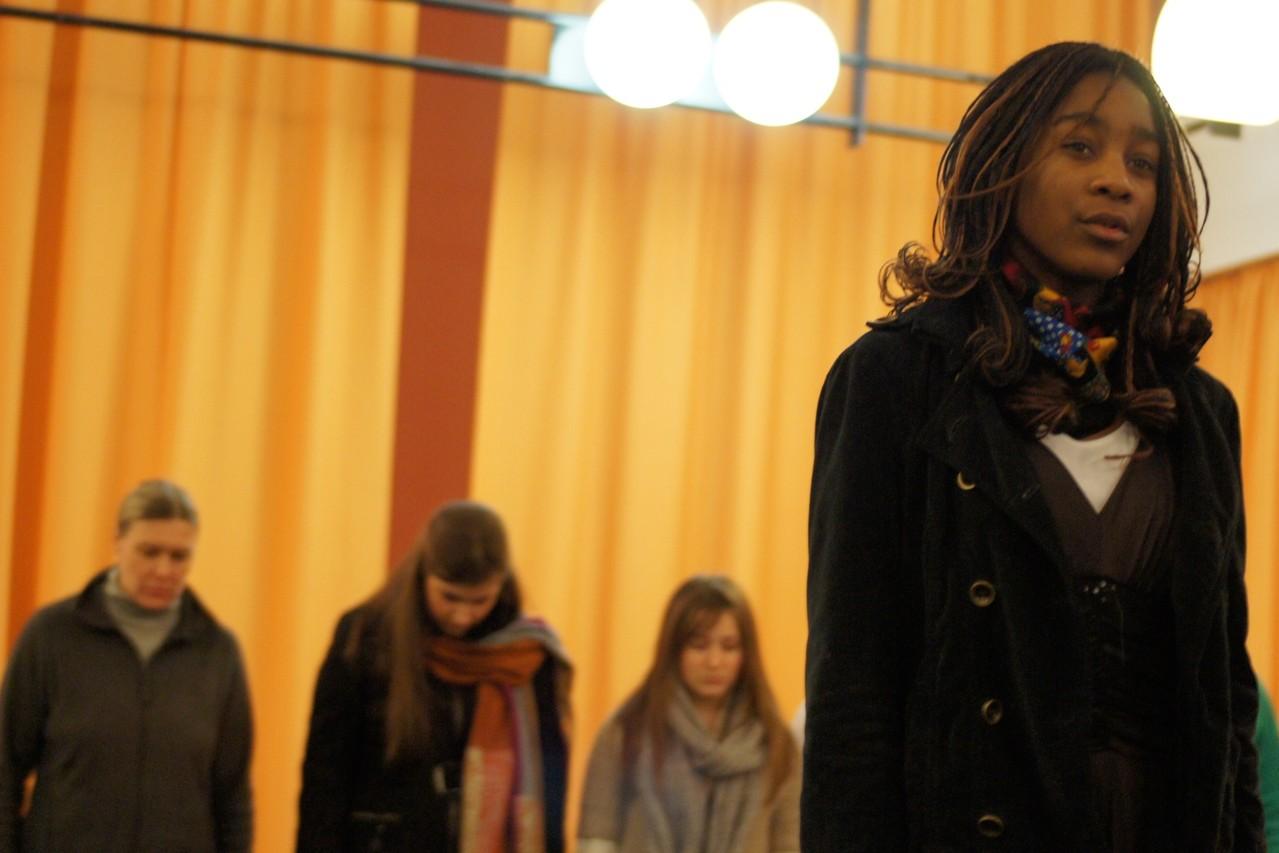 Cassandra Vouffo als Fasia Jansen. Foto: Rahner