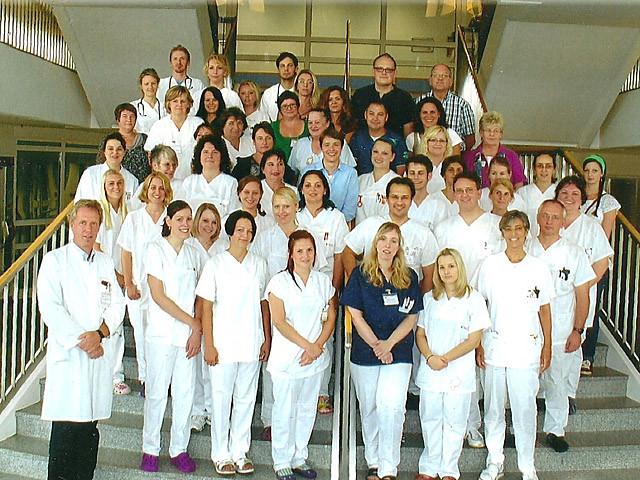 Ärzte und Pflegeperonal der onkologischen Station 12 und 32