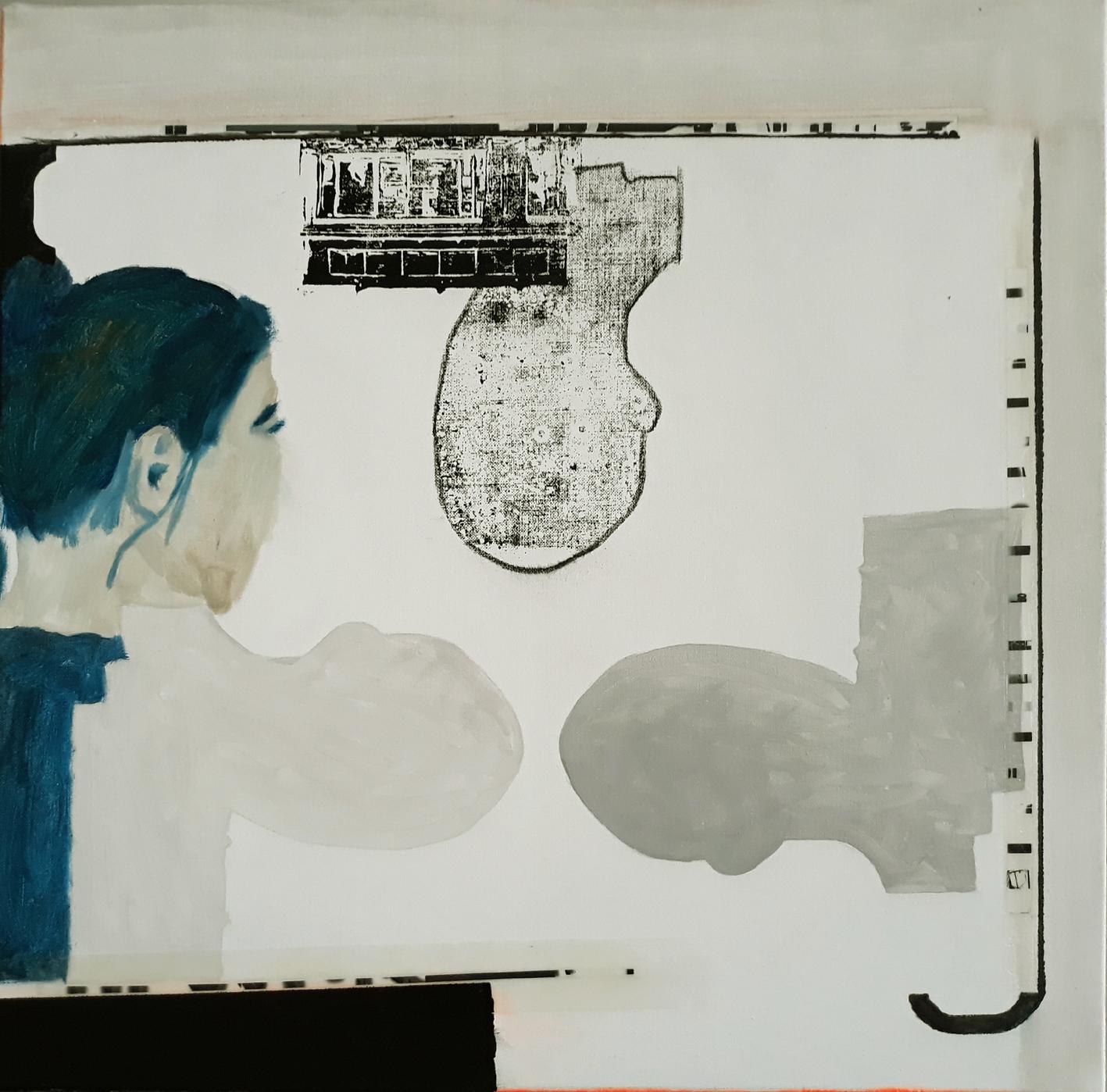 als vierter: Gerhard Kaiser mit Gelatine und Acryl