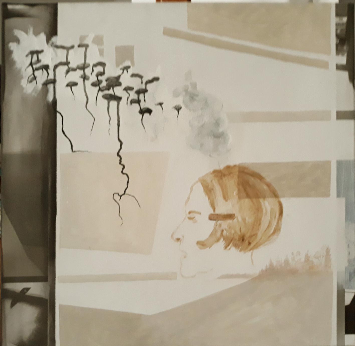 als sechste und letzte: Eva Hradil mit Eitempera