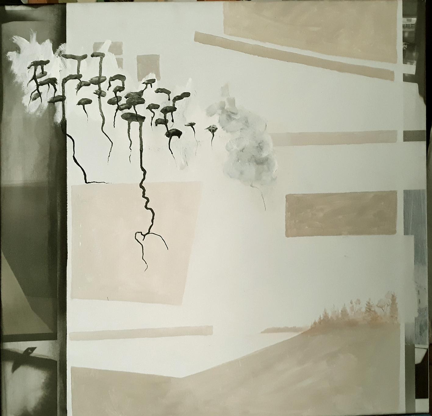 als fünfter: Christoph Mayer mit Acryl und Tusche