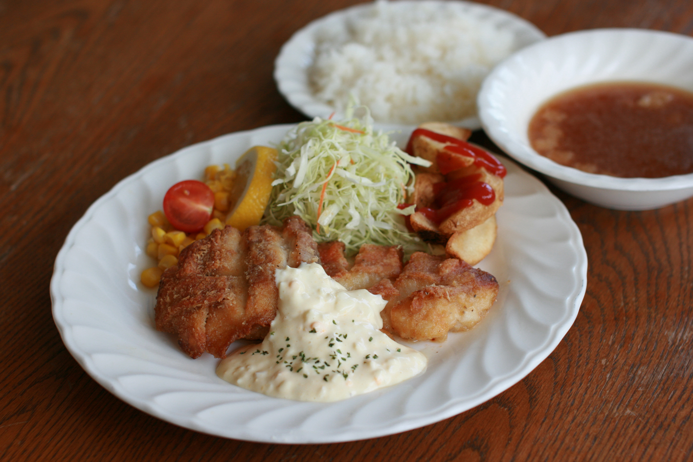 白身魚のムニエル セット¥1,100 単品¥900