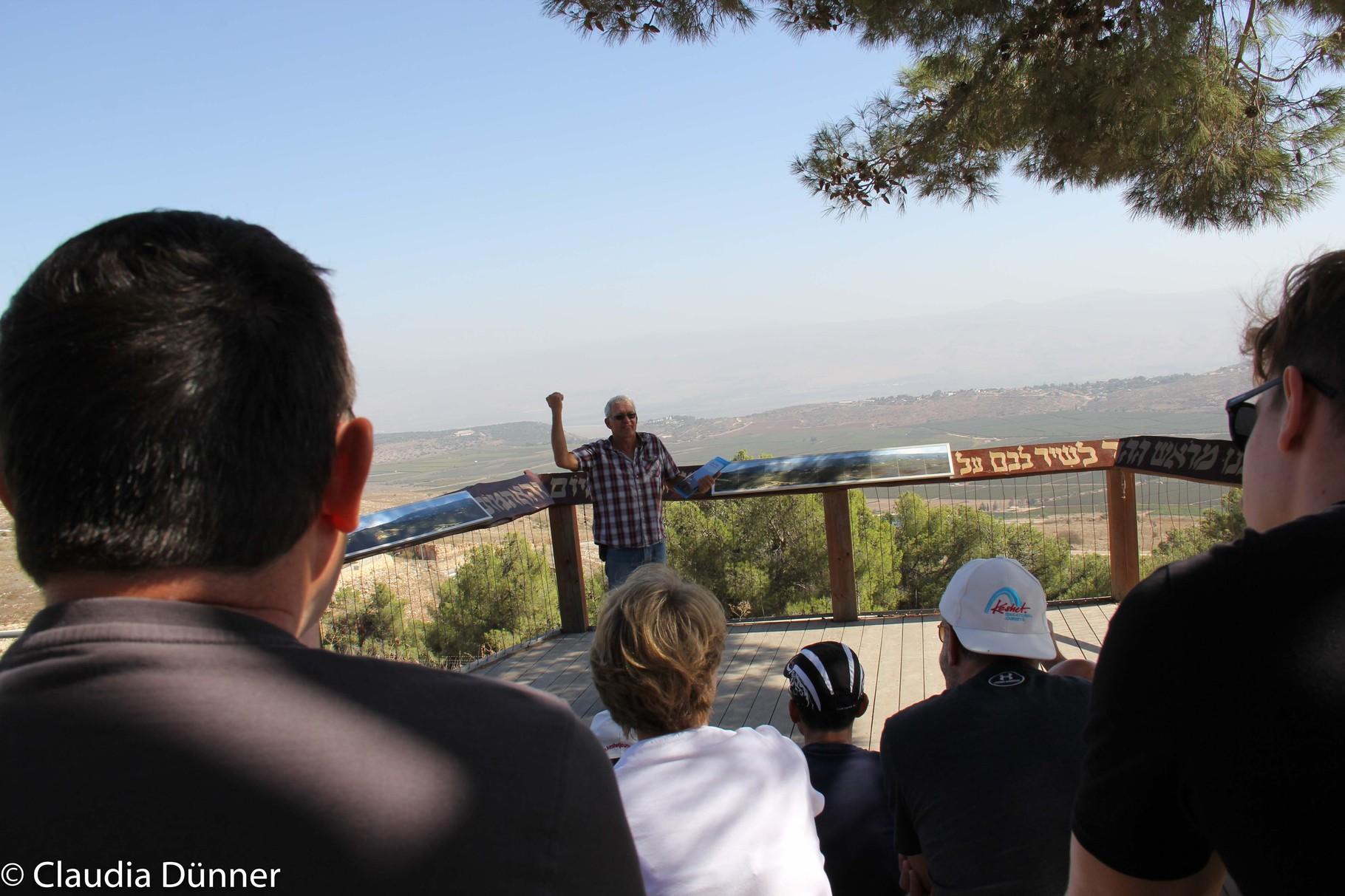 In einem Kibbuz an der Grenze zum Libanon.