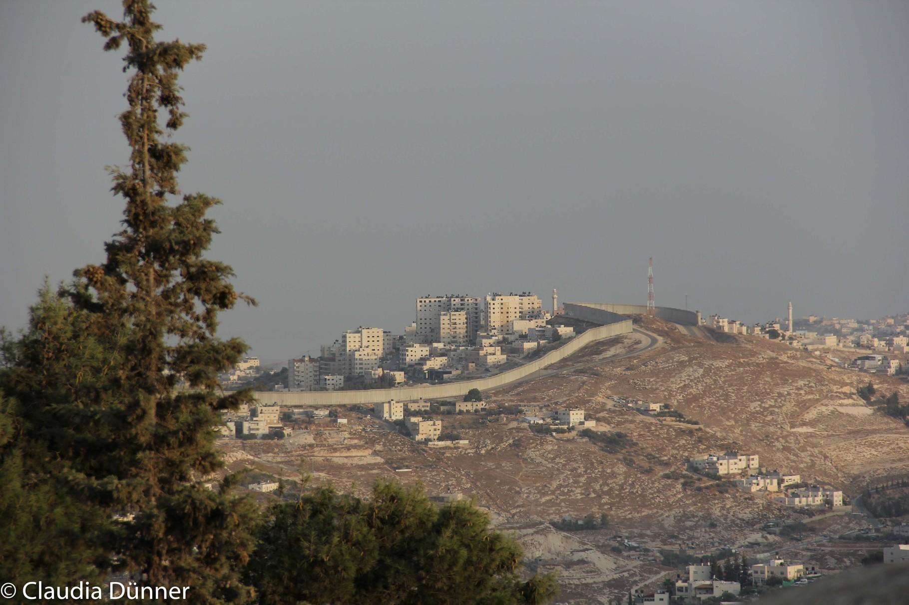 Sperranlage in Jerusalem