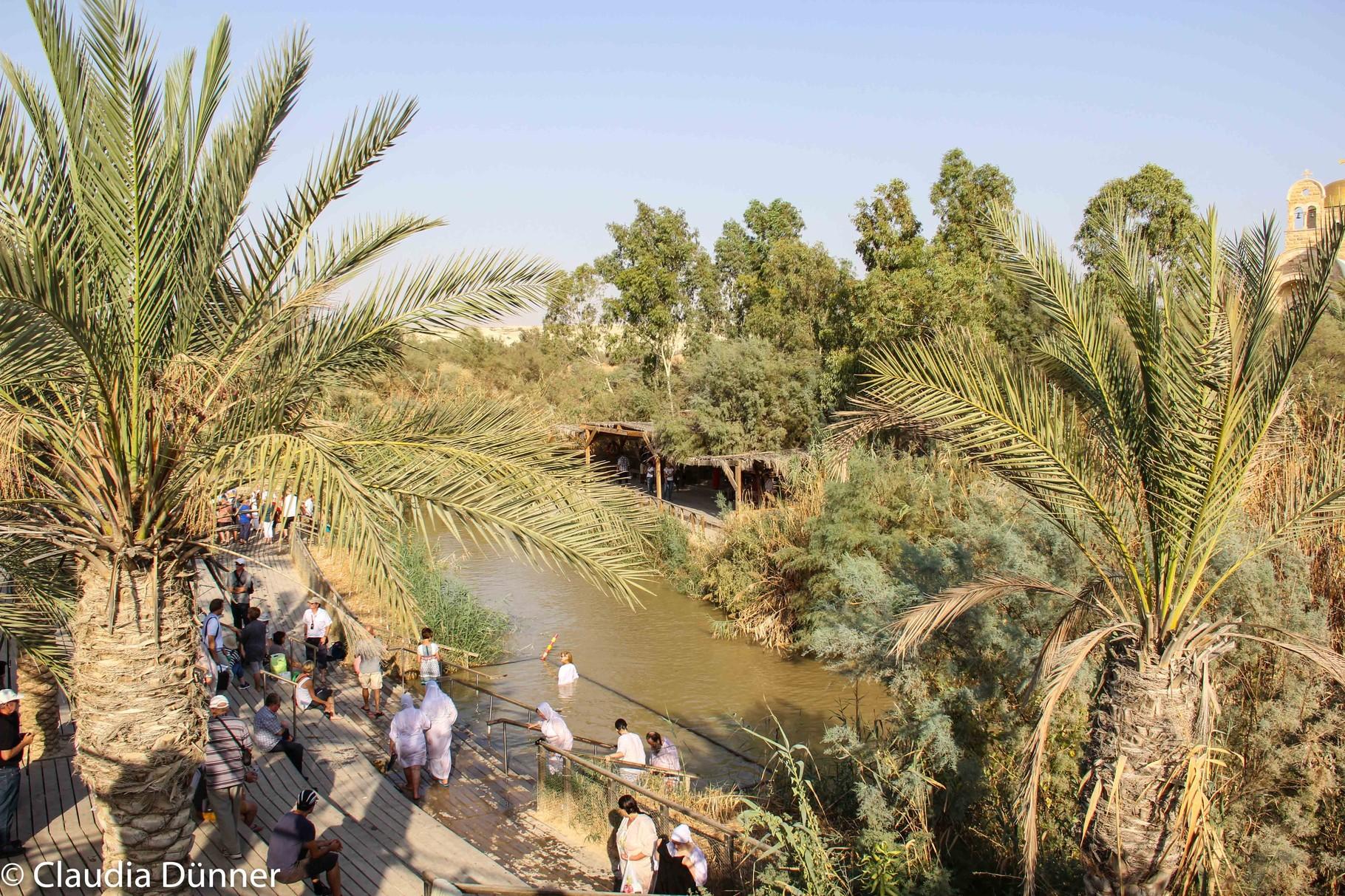 Hier am Jordan wurde Jesus von Johannes getauft.
