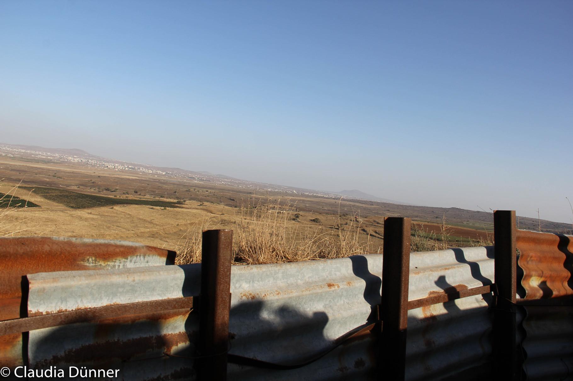 Golan, im Tal der Tränen, Blick auf Syrien.