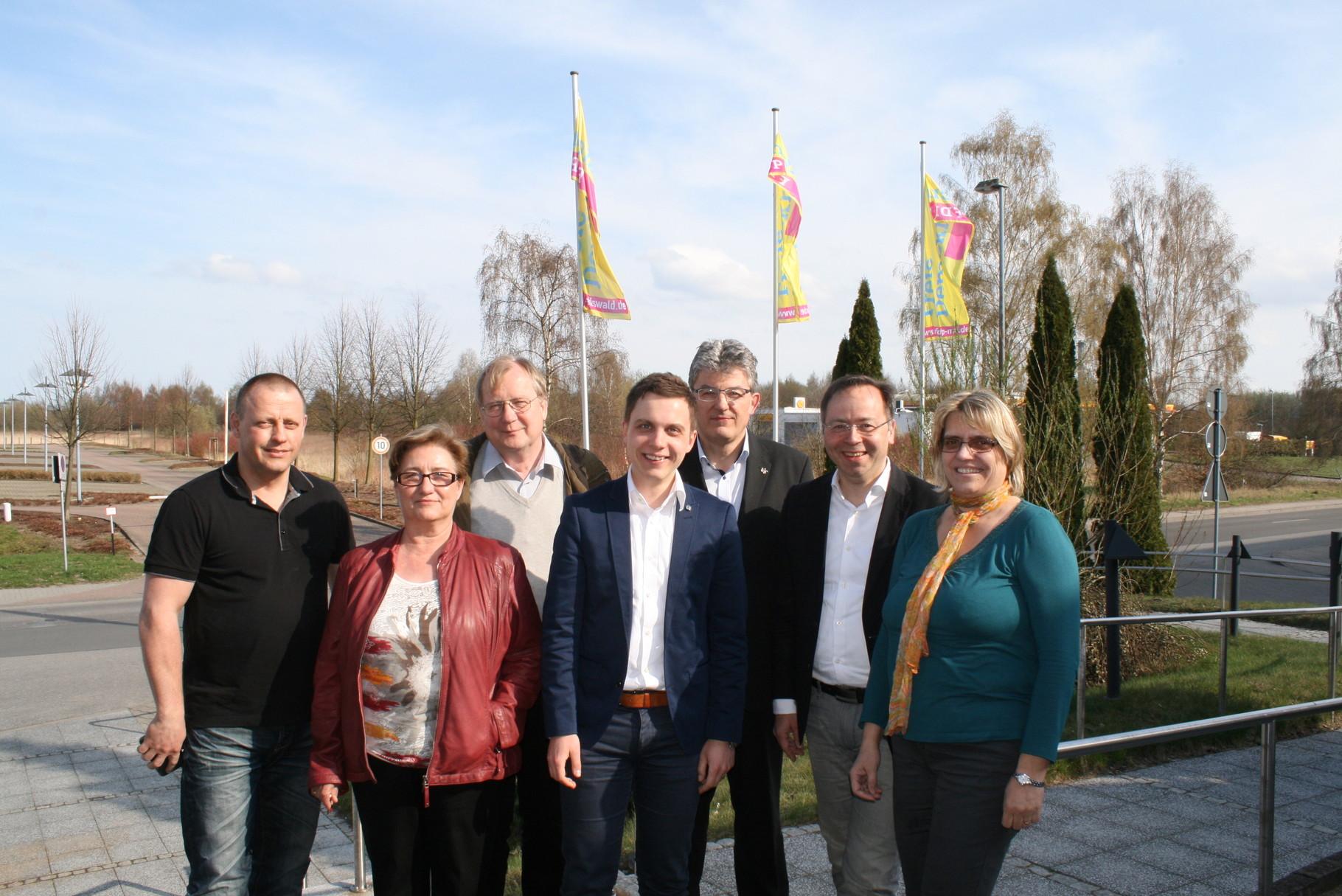 Die Rügener Delegierten mit unserem Freund Patrick Meinhardt.