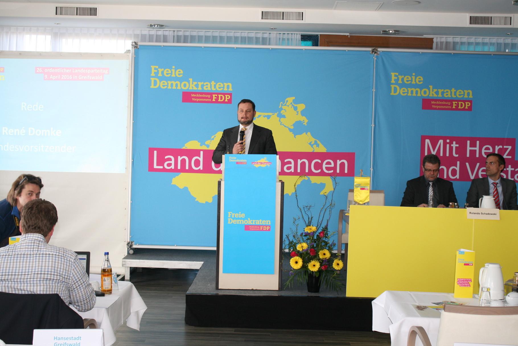 Eröffnung und Begrüßung durch den Landesvorsitzenden René Domke.