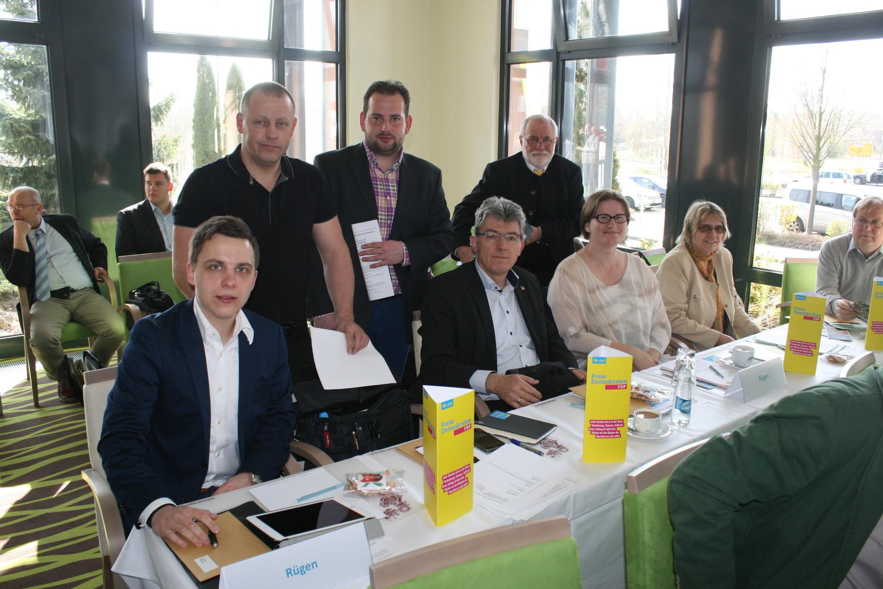Die Delegierten der FDP Rügen.