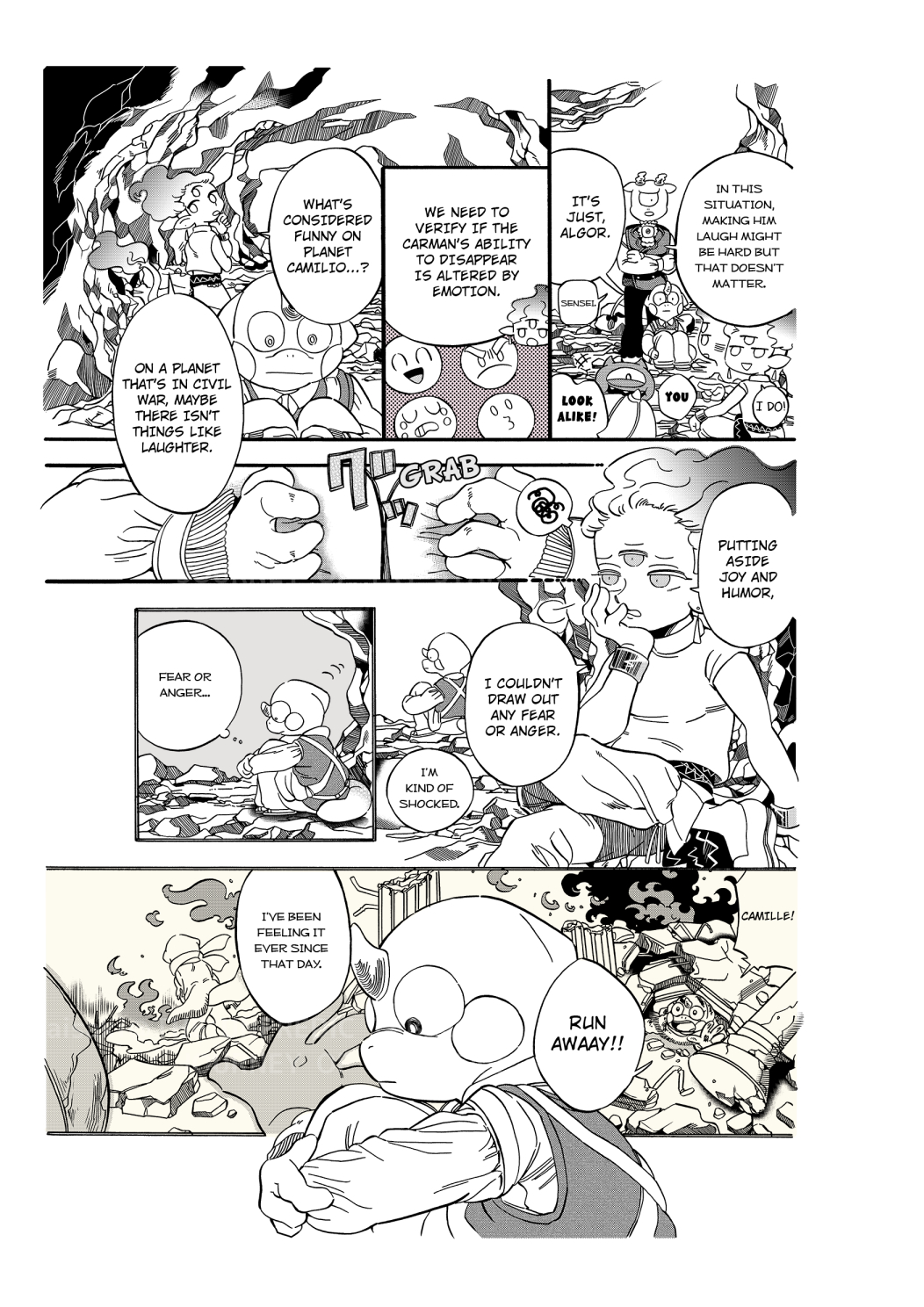 COMIC THE UNPREDICTABLE JOURNEY OF TRY-STAR 43