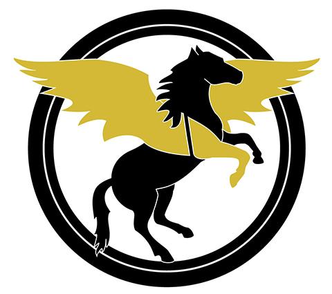 geflügelter Trojaner | Pegasus Logo von Polydual – New Brand?