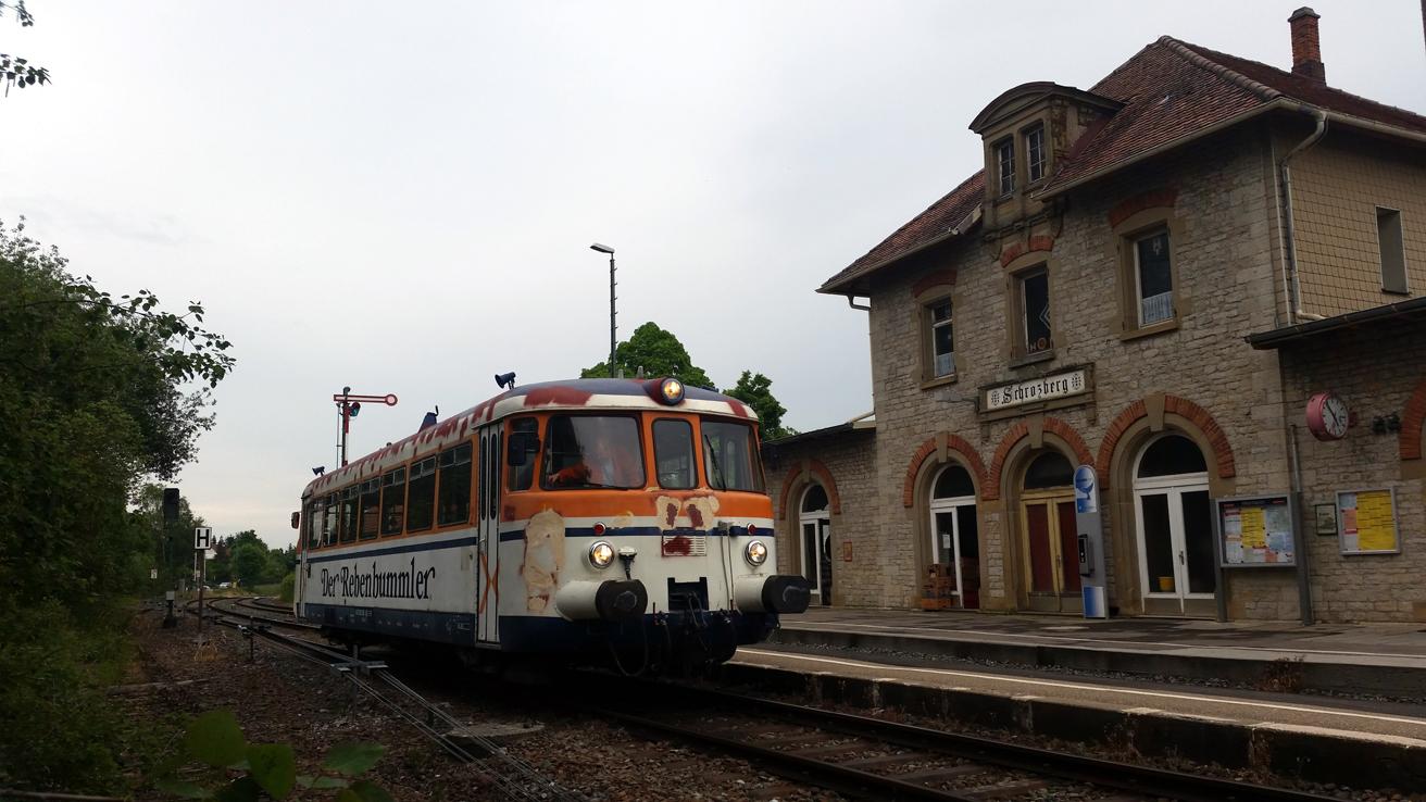 Der MAN-Triebwagen absolvierte eine Probefahrt nach Schrozberg