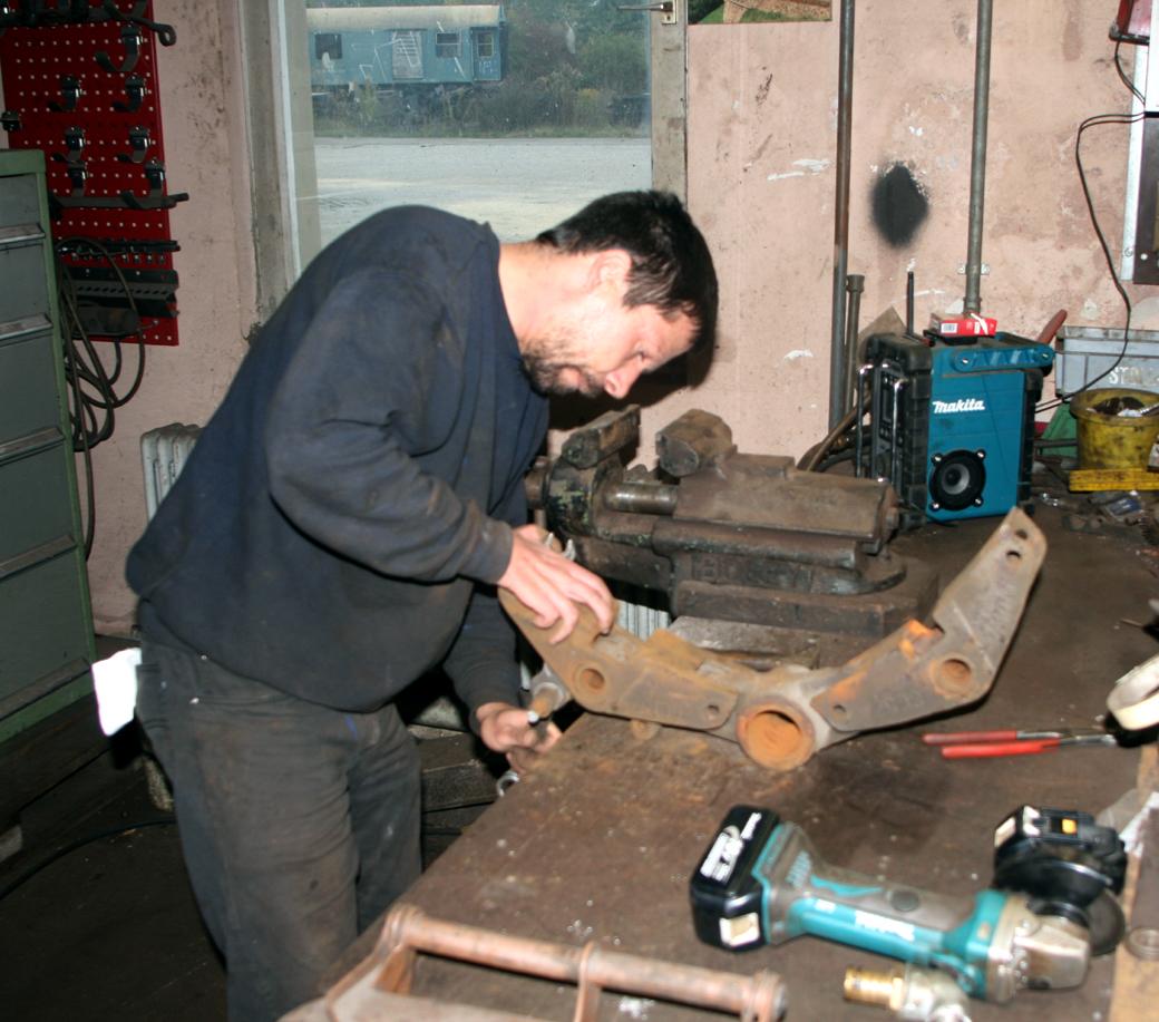 Die Bremskomponenten wurden in der Werkstatt dann weiter zerlegt.