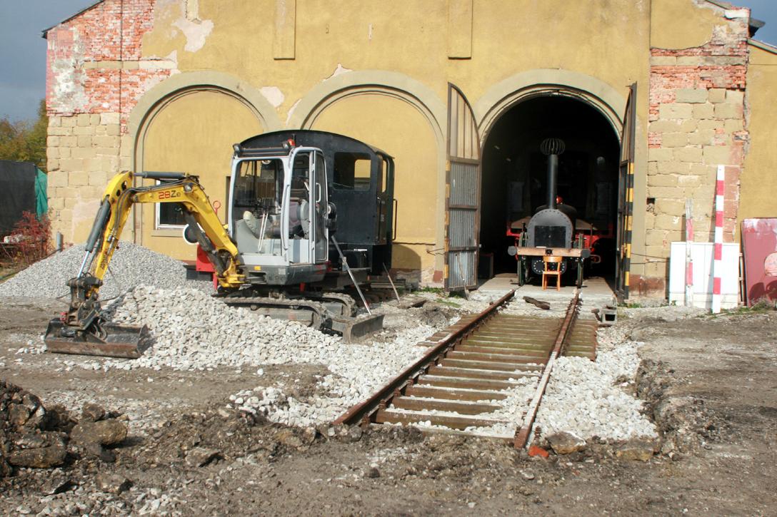 Auf dieser Trasse lagen schon im Jahr 1866 Gleise.