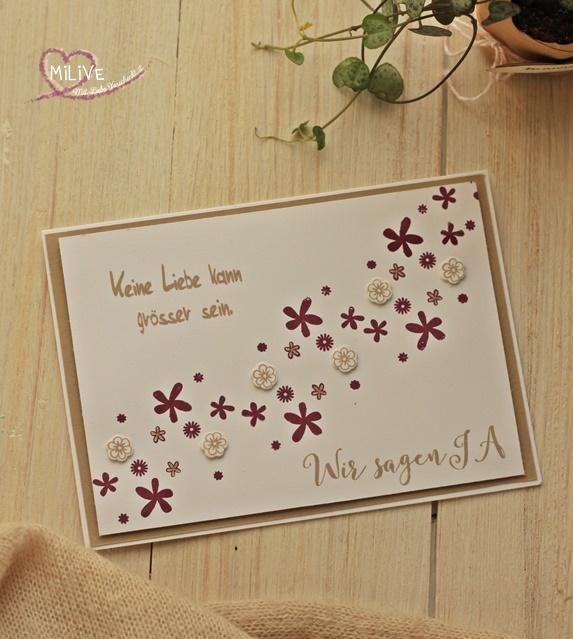 Hochzeitseinladung Blumen Wir sagen ja