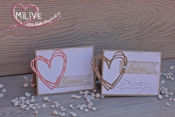 Hochzeit Namensschild Grüße voller Sonnenschein