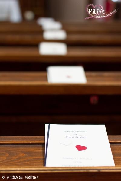 Kirchenheft Hochzeit schlicht