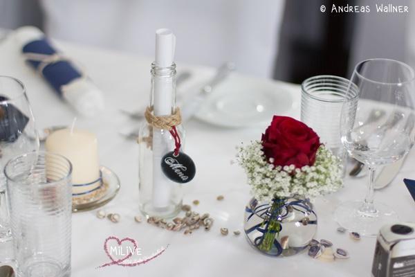 Stampin' Up Hochzeit Flaschenpost Menükarte