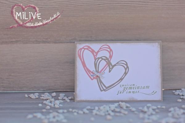 Hochzeit Einladung Herzen