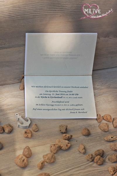 Hochzeitseinladung Maritim Stampin' Up Hochzeit