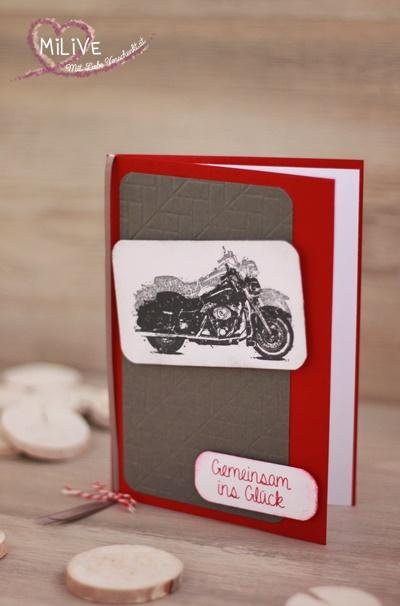 Hochzeitseinladung Biker Stampin' Up