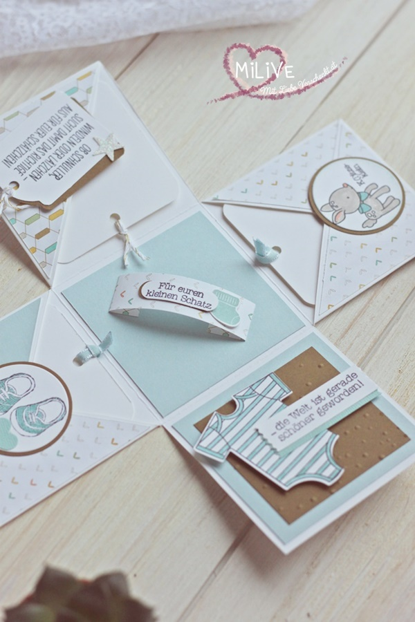 Explosionsbox Baby Boy Stampin' Up!