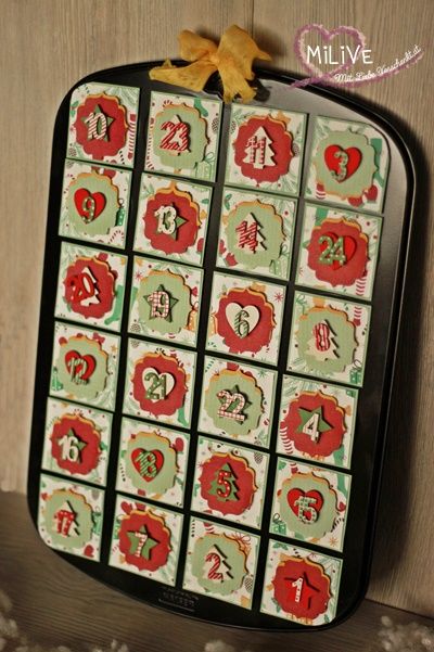 Adventskalender Muffinform