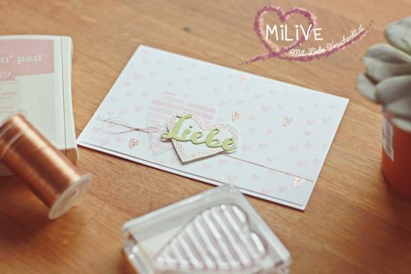DIY Box Hochzeitseinladung Herz Kupfer Stampin' Up!