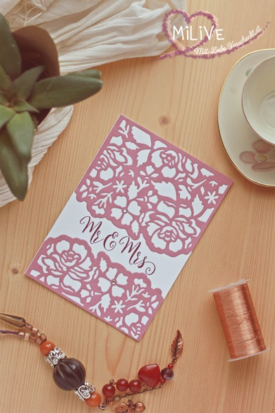 Stampin' Up Detailed Floral Rosenrot Mr&Mr's Hochzeitseinladung Hochzeit
