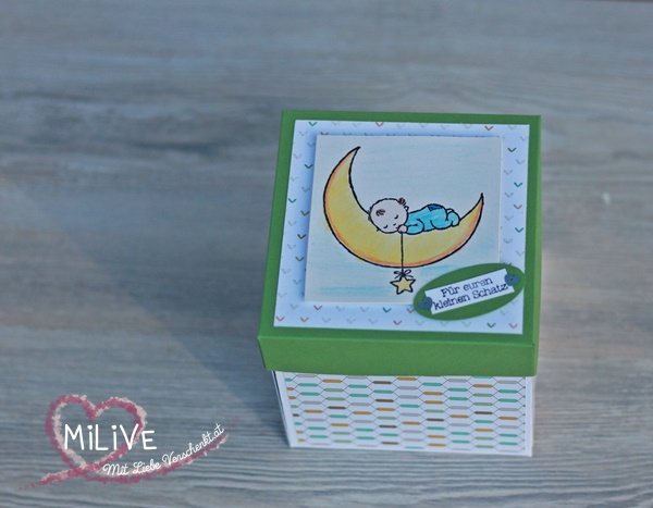 Geburt Explosionsbox Stampin' Up!