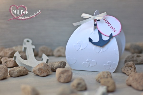 Zierschachtel Anker Maritime Hochzeit Give Away Stampin' Up