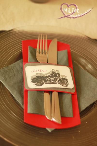 Tischset Biker Hochzeit On the Road