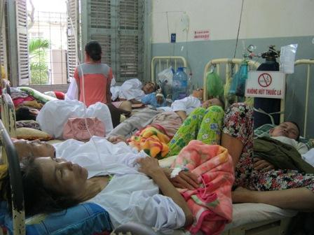 Betten im Krankenhaus