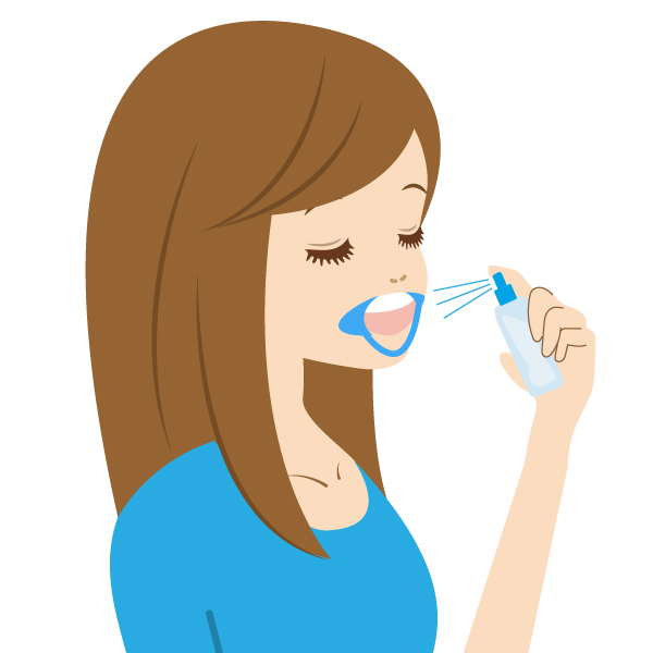 ホワイト溶液を歯に散布します。