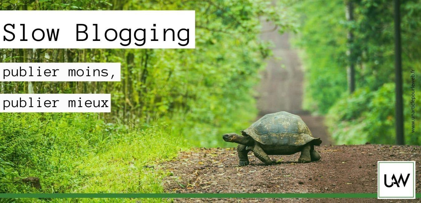 Slow blogging : publier moins, publier mieux
