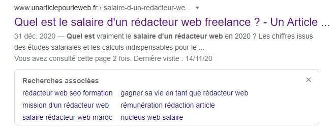 exemple de balises off page sur Google title et meta description